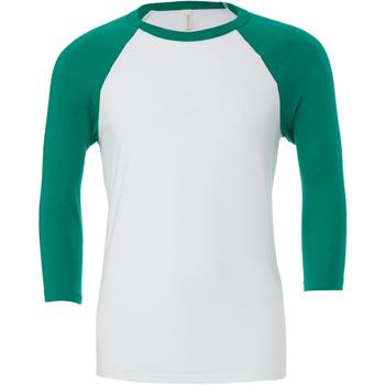 Vêtements Homme T-shirts manches longues Bella + Canvas Baseball Blanc / vert
