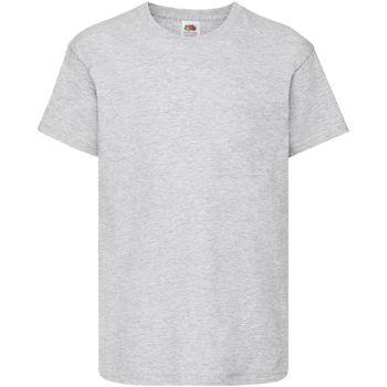 Vêtements Enfant T-shirts manches courtes Fruit Of The Loom Original Gris