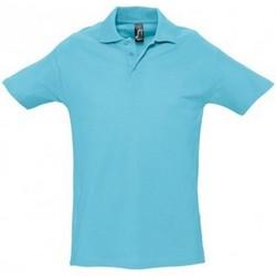 Vêtements Homme Polos manches courtes Sols Spring Bleu atoll