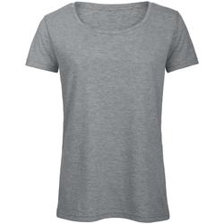 Vêtements Femme T-shirts manches courtes B And C Favourite Gris clair chiné