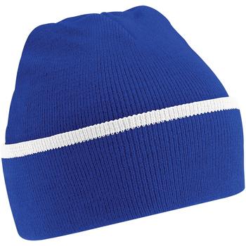 Accessoires textile Bonnets Beechfield Beanie Bleu roi vif/Blanc