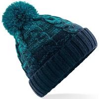 Accessoires textile Bonnets Beechfield Beanie Sarcelle/Bleu marine