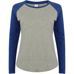 Vêtements Enfant T-shirts manches longues Skinni Fit Baseball Gris chiné/Bleu roi