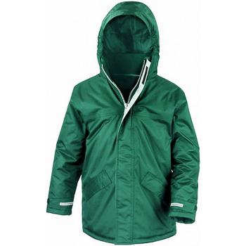 Vêtements Enfant Parkas Result Parka Vert bouteille