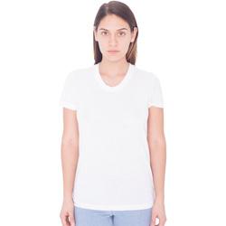 Vêtements Femme T-shirts manches courtes American Apparel PL301W Blanc