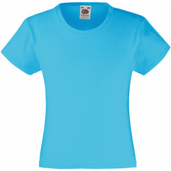 Vêtements Fille T-shirts manches courtes Fruit Of The Loom Valueweight Bleu azur