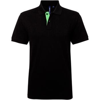 Vêtements Homme Polos manches courtes Asquith & Fox Contrast Noir/Vert