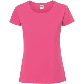 Vêtements Femme T-shirts manches courtes Fruit Of The Loom Premium Fuchsia