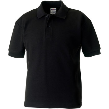 Vêtements Garçon Polos manches courtes Jerzees Schoolgear Pique Noir