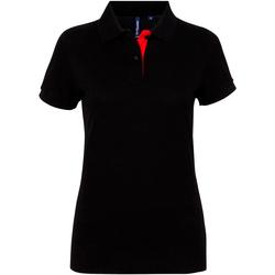 Vêtements Femme Polos manches courtes Toutes les chaussures femme Contrast Noir/Rouge
