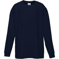 Vêtements Enfant T-shirts manches longues Fruit Of The Loom 61007 Bleu marine profond
