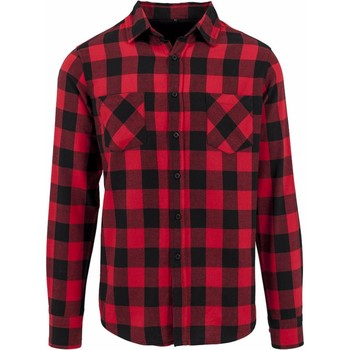 Vêtements Homme Chemises manches longues Build Your Brand Checked Noir/Rouge