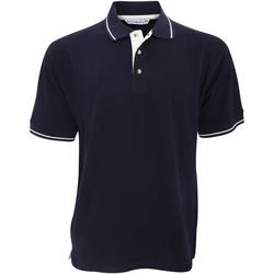 Vêtements Homme Polos manches courtes Kustom Kit KK606 Bleu marine/Blanc