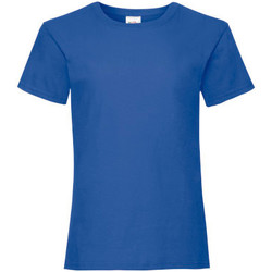 Vêtements Fille T-shirts manches courtes Fruit Of The Loom Valueweight Bleu roi rétro chiné