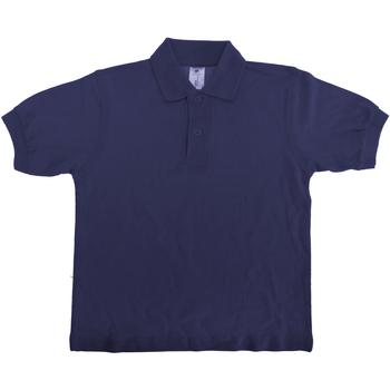 Vêtements Enfant Polos manches courtes B And C Safran Bleu marine