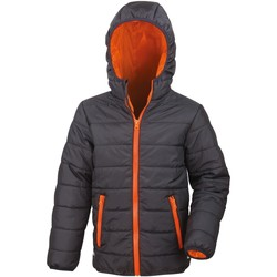 Vêtements Enfant Doudounes Result Showerproof Noir/Orange