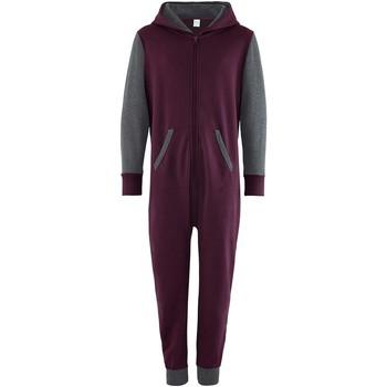 Vêtements Enfant Combinaisons / Salopettes Comfy Co Contrast Bordeaux/Gris foncé