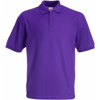Vêtements Garçon Polos manches courtes Fruit Of The Loom Pique Violet
