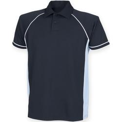 Vêtements Homme Polos manches courtes Finden & Hales Piped Bleu marine/Bleu ciel/Blanc