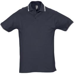 Vêtements Homme Polos manches courtes Sols Pique Bleu marine/Blanc