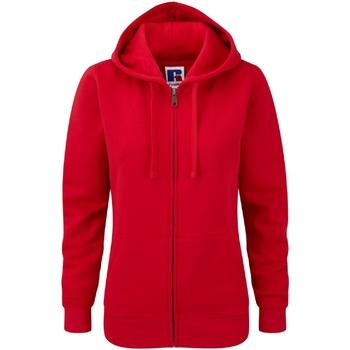 Vêtements Femme Sweats Russell Sweatshirt à capuche et fermeture zippée BC2731 Rouge