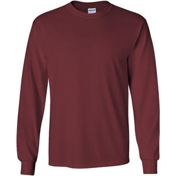 Vêtements Homme T-shirts manches longues Gildan Ultra Bordeaux