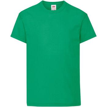 Vêtements Enfant T-shirts manches courtes Fruit Of The Loom Original Vert tendre