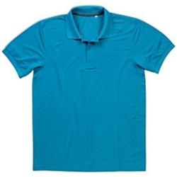 Vêtements Homme Polos manches courtes Stedman Pique Turquoise