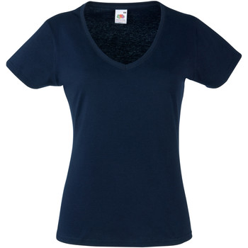 Vêtements Femme T-shirts manches courtes Fruit Of The Loom 61398 Bleu marine profond