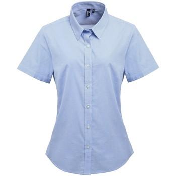 Vêtements Femme Chemises / Chemisiers Premier PR321 Bleu clair/Blanc