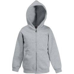 Vêtements Enfant Sweats Fruit Of The Loom Hooded Gris