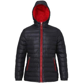 Vêtements Femme Doudounes 2786 Hooded Noir/Rouge