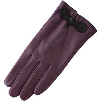 Accessoires textile Femme Gants Eastern Counties Leather Contrast Violet / Noir