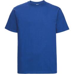 Vêtements Homme T-shirts manches courtes Russell Europe Tshirt épais à manches courtes 100% coton RW3276 Bleu roi vif