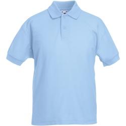 Vêtements Garçon Polos manches courtes Fruit Of The Loom Pique Bleu ciel