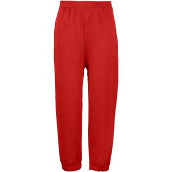 Vêtements Enfant Pantalons de survêtement Maddins Coloursure Rouge