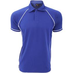 Vêtements Homme Polos manches courtes Finden & Hales Piped Bleu roi/Blanc