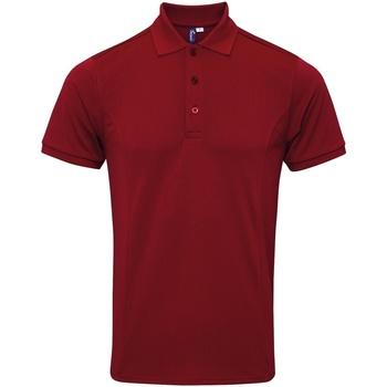 Vêtements Homme Polos manches courtes Premier PR630 Bordeaux