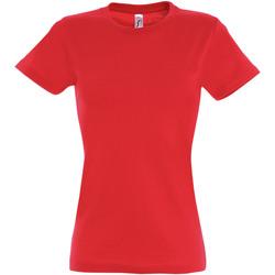 Vêtements Femme T-shirts manches courtes Sols Imperial Rouge orangé