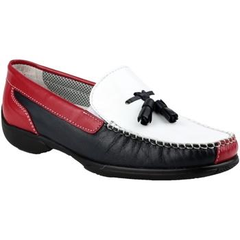 Chaussures Femme Mocassins Cotswold Moccasin Blanc/Bleu marine/Rouge