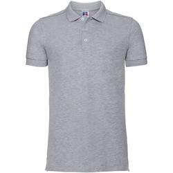 Vêtements Homme Polos manches courtes Russell Polo uni slim BC3257 Gris