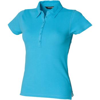 Vêtements Femme Polos manches courtes Skinni Fit Stretch Bleu surf