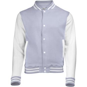Vêtements Enfant Blousons Awdis Varsity Gris chiné/Blanc