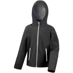 Vêtements Enfant Polaires Result R224JY Noir/Gris