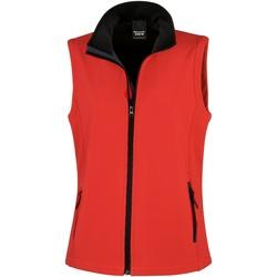 Vêtements Femme Gilets / Cardigans Result Printable Rouge/Noir