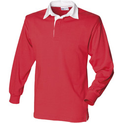 Vêtements Homme Polos manches longues Front Row Rugby Rouge/Blanc