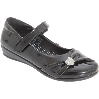 Chaussures Fille Ballerines / babies Us Brass Diamante Noir verni