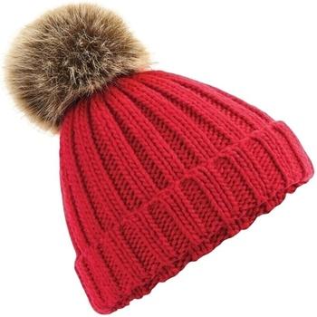 Accessoires textile Bonnets Beechfield Cuffed Rouge