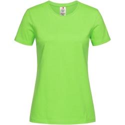 Vêtements Femme T-shirts manches courtes Stedman Organic Vert kiwi