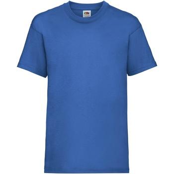 Vêtements Enfant T-shirts manches courtes Fruit Of The Loom 61033 Bleu royal